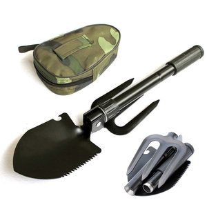 Outdoor EDC Survival Tool Shovel Survival Spade Foldable Multifunctional Folding Survival For Outdoor Camping Hiking Equipment