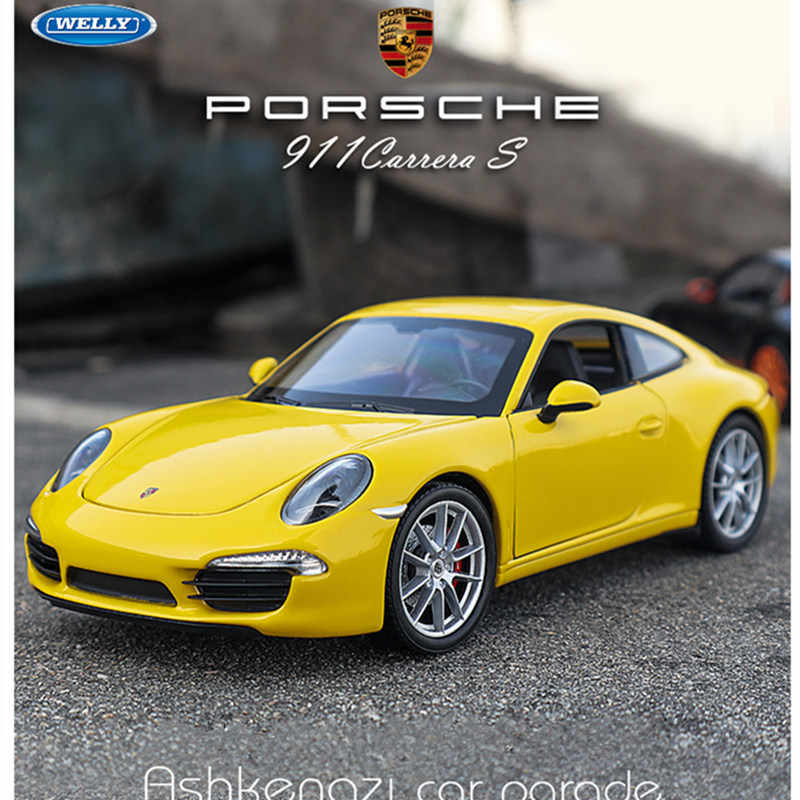 welly 1:24  Porsche   CARRERA S  car  alloy car model simulation car decoration collection gift toy Die casting model boy toy