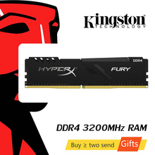 Kingston memoria ram ddr4 HyperX FURY 8GB 16GB 32G Desktop Spiel RAM Speicher 3200MHz CL16 DIMM 288-pin Interne Memoria Für Gaming