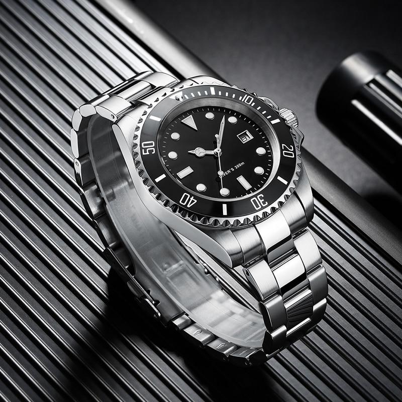 2020 relógio de mergulho 200m fantasma verde japão 2115 relógios de quartzo men c3 calendário super luminoso relógio de mergulho relógios masculinos da forma - 4
