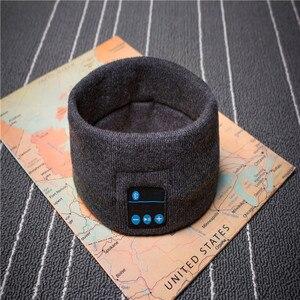 Image 3 - Winter Knitting Music Headband Headset W/ Mic Wireless Bluetooth Earphone Headphone for Running Yoga Gym Sleep Sports Earpiece