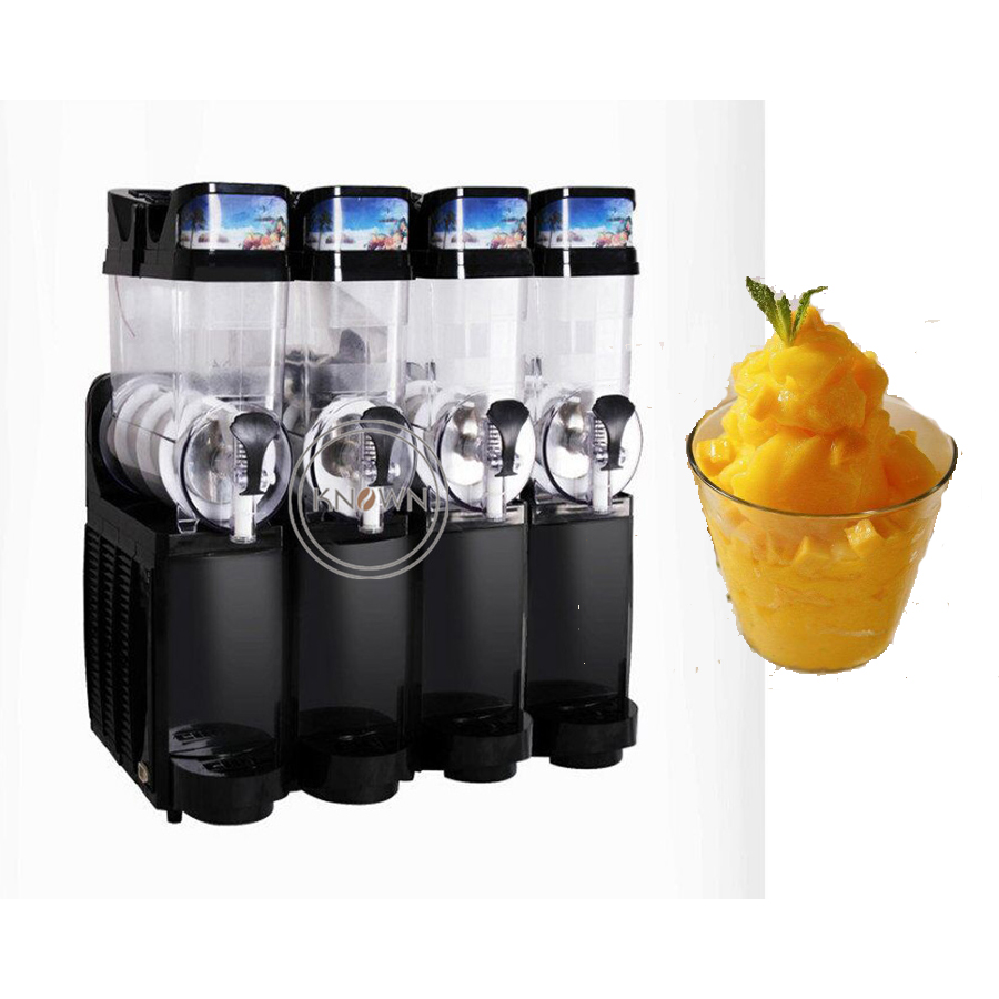 Best Selling Restaurant Commercial Ice Slush Machine/Slush Syrup/Slush Puppy Machines Four Tanks For Sale
