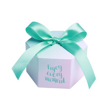 New Creative Enjoy every moment Gifts Box Wedding Favors and Tiffany Candy Boxes Party Supplies Baby Shower Paper Sweet Chocol
