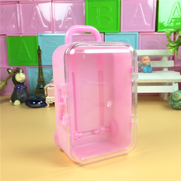 24pcs Mini Trunk Suitcase Luggage Suitcase Kids Toy Dolls Accessories Candy Box Gift Cartoon Gift Box Kis Favor Decor