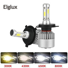2PCs H7 H4 LED Bulb Car Headlight COB H11 H1 H13 H3 H27 9005/HB3 9006/HB4 9007 Hi Lo Beam 80W 12000LM Auto Headlamp