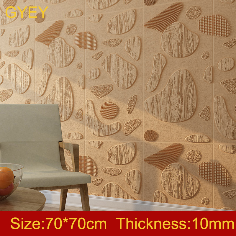 3D Stereo Wall Stickers Bedroom Self-adhesive Wallpaper Waterproof Creative Network Red Live Room Decoration Nordic Wallpaper image