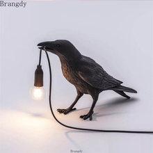 Seletti птица настольные лампы смола современный ворона Светодиодная