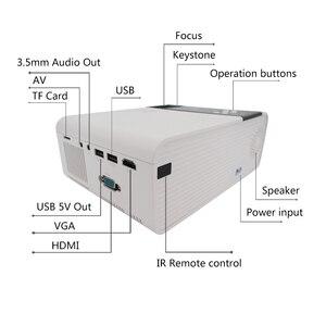 Image 3 - جهاز عرض صغير TD90 HD 720P LED ، جهاز عرض ليزر 4k للسينما المنزلية ، مع WiFi و VGA و AV