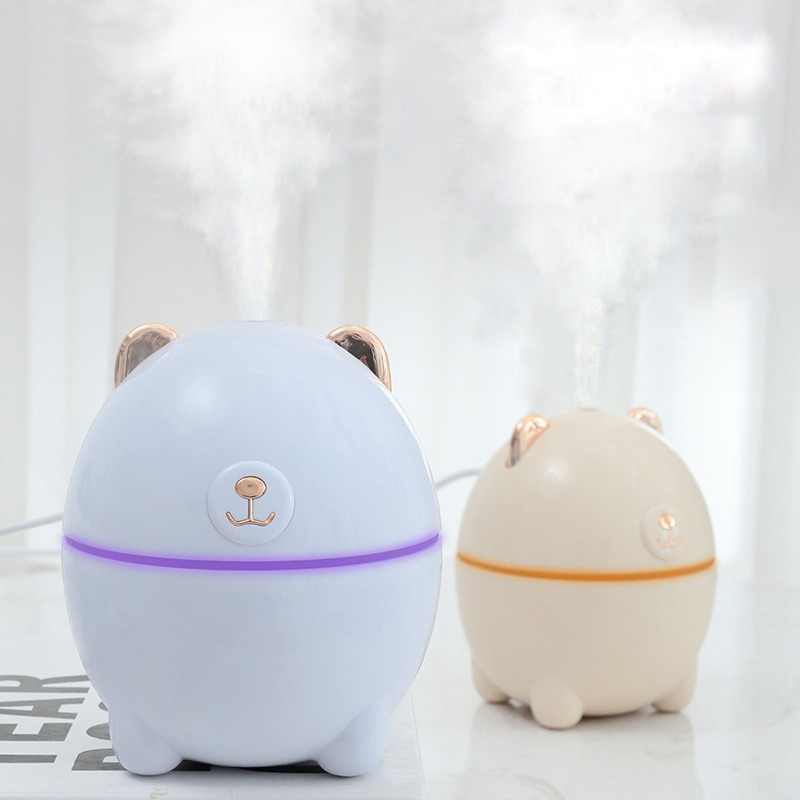 220ML Ultrasonic Bear Air Humidifier Aroma Essential Oil Diffuser For Home Car USB LED Night Fogger Mist Maker Air Fresher