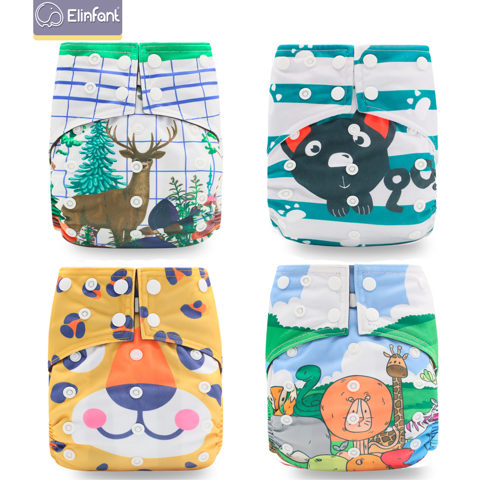 Elinfant os suede cloth pocket diaper washable baby nappy Most Popular Digital Position Baby Cloth Diaper