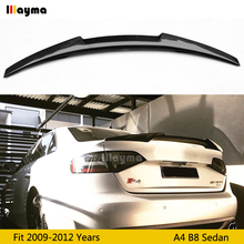 цены M4 Style Carbon Fiber rear trunk spoiler For Audi A4 B8 2009 2010 2011 2012 year Car rear wing spoiler (Not fit Sline S4 RS4)