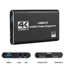 Usb 3.0 4k 60hz 1080p 60fps hd vídeo game placa de captura conversor de vídeo saída hdmi streaming ao vivo para xbox ps4 mac plug and play