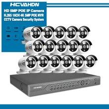 H.265 16CH 4K 5MP CCTV Security System 5MP HD POE NVR Kit 4.0MP Bullet outdoor POE IP Camera P2P ONVIF Video Surveillance Set hiseeu h 265 h 264 4ch 48v poe ip camera nvr security surveillance cctv system p2p onvif 8 2mp 4 5mp 4k network video recorder
