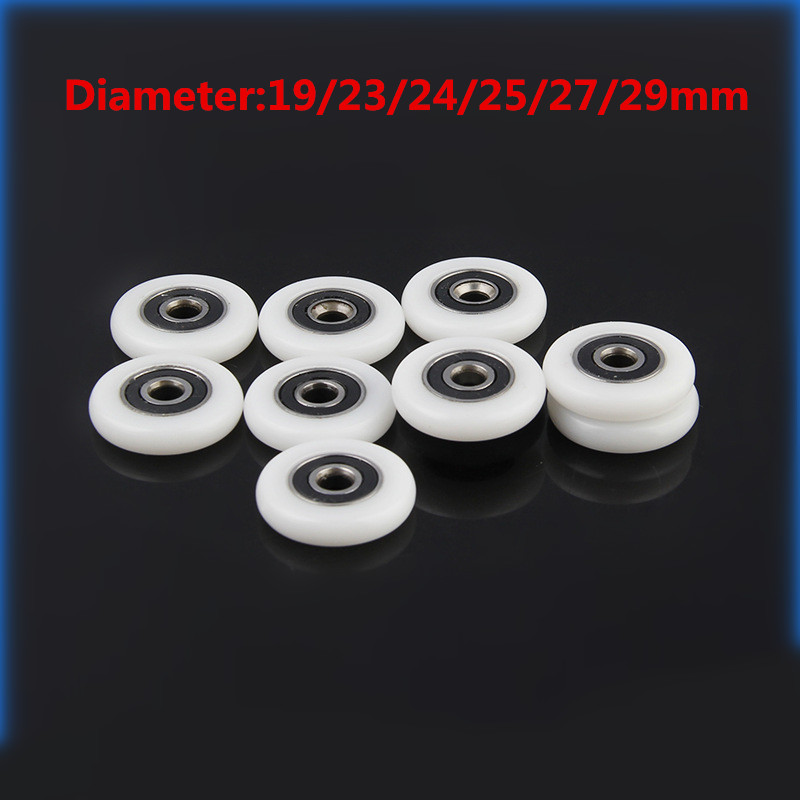 2 Pcs Bath cabinet roller wheel shower room accessories bearing roller wheel 19mm/22mm/23mm/25mm/27mm rollers for sliding door