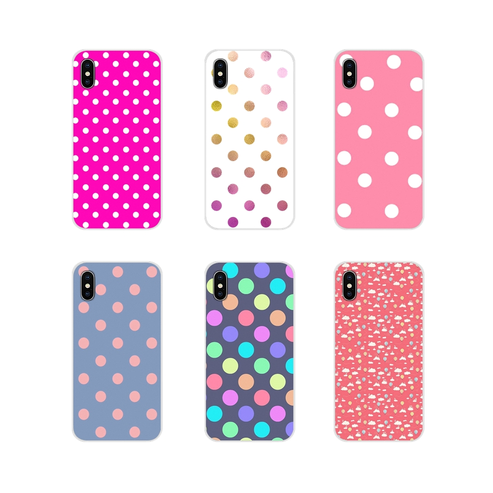 Accessories Phone Shell Covers For Apple iPhone X XR XS 11Pro MAX 4S 5S 5C SE 6S 7 8 Plus ipod touch 5 6 Polka Dots