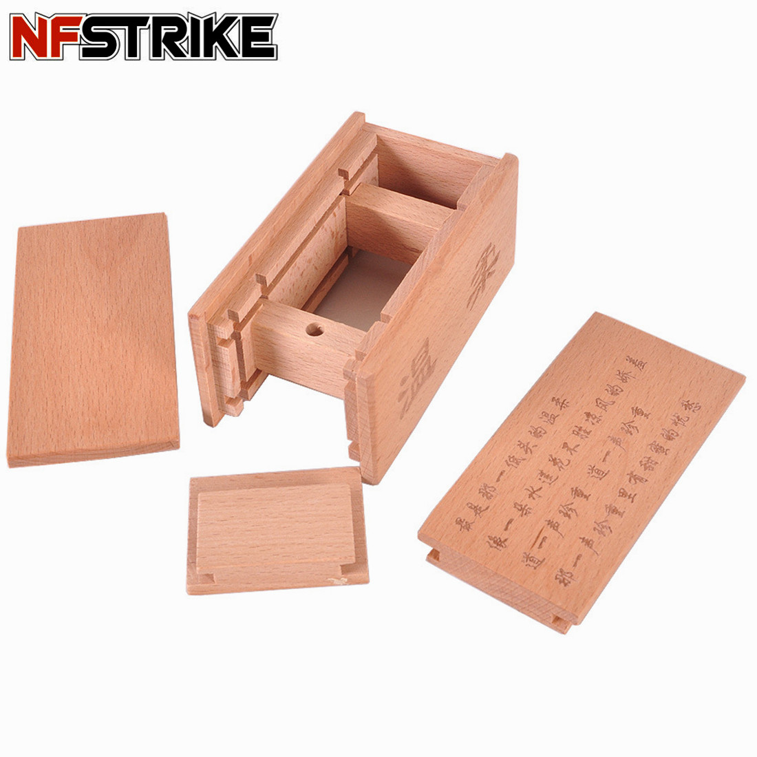 NFSTRIKE Lock Moonlight Mystery Treasure Magic Box Wooden Intelligent Puzzles Toys For Kids Children Early Development Toys 2018