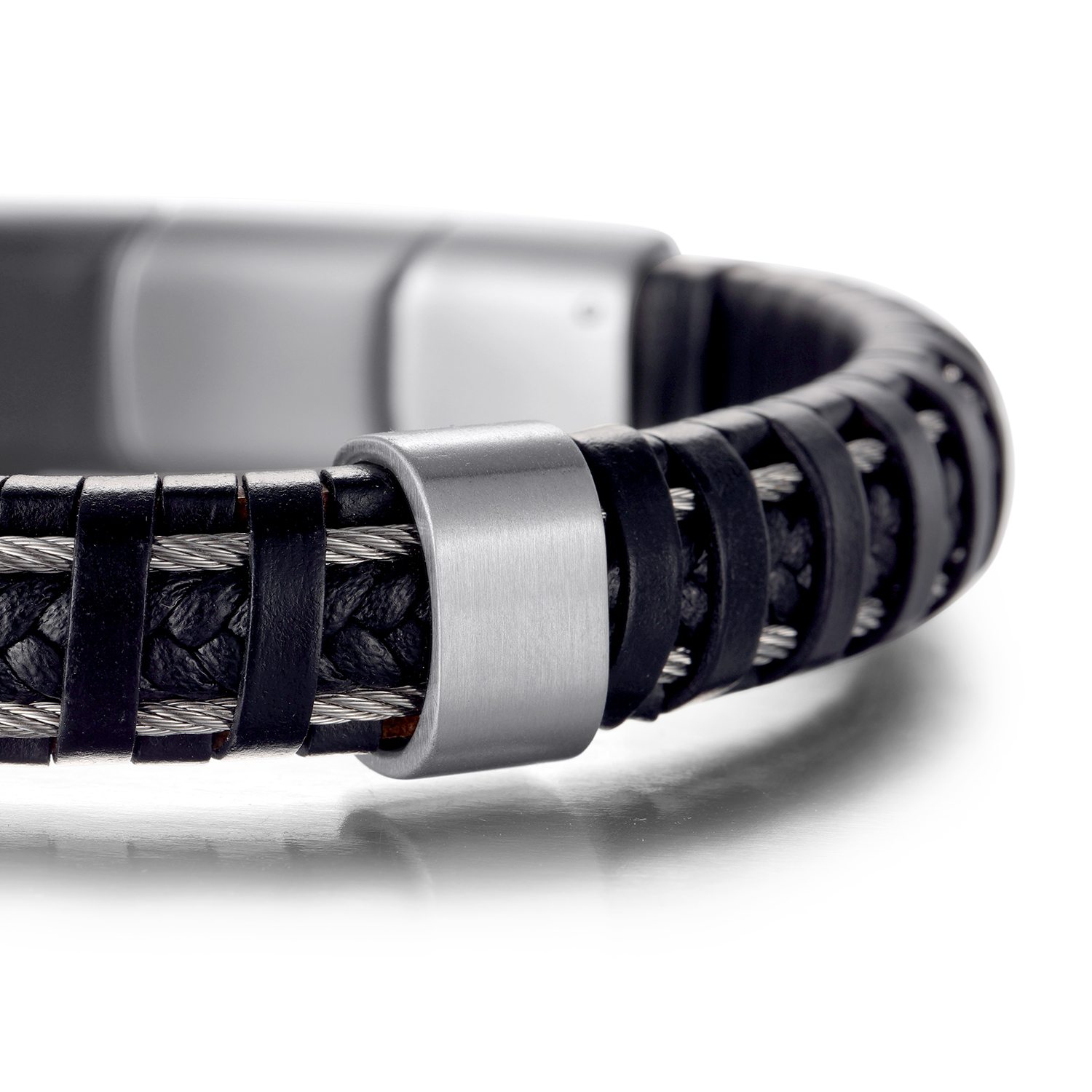 H69264780fa1c4b9d9a35506f142f937c5 - Hard leather Bracelets Jewelry for pain relief