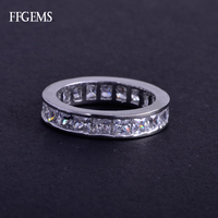 FFGems Real 10K Gold Ring Sterling Moissanite Diamond Test Passed Fine Jewelry For Women Lady Engagement Wedding Party Gift