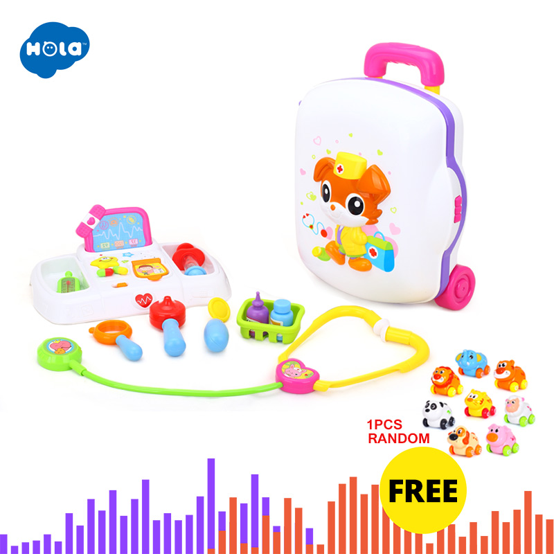 HOLA 3107 Baby Toys Kids Doctor Suitcase Pretend Play Toy with Music & Light Electronic Doctor Nurse Medical Play Toys Set Игрушка