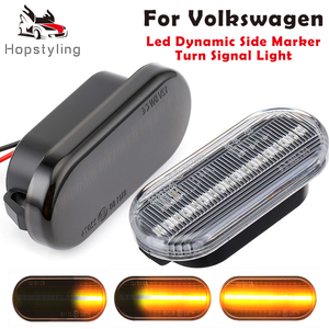 Dynamic Led Side Marker Turn Signal Light Sequential Blinker Lamp For VW T5 Caddy Golf 3 4 Passat Amarok Up Polo Fox Beetle Lupo