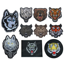 Embroidery Russian Wolf Bear Tiger patch army Tactical Morale Military Emblem Huskie dog Wolf Totem Patches Badge for backpack(China)