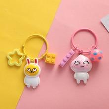 Hot Selling Japanese Cartoon Cartoon Cartoon Key Chain Image Keychains Lady Key Chain Bag Pendant Car Accessories Key Ring 2020