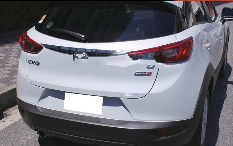 ABS Chrome Rear Trunk Lid Cover For 2016 2017 2018 <font><b>Mazda</b></font> CX-3 CX 3 <font><b>CX3</b></font> Tail Protector Trim Car <font><b>Accessories</b></font> image