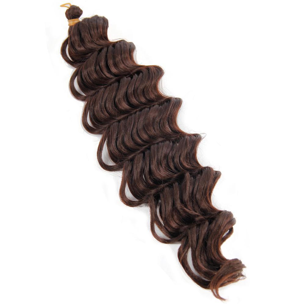 curly crochet hair braid rainbow braiding hair 22'' braiding hair extensions ocean wave crochet braid purple