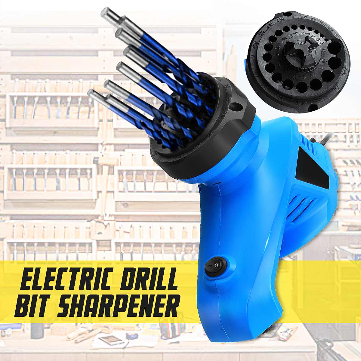 Electric Drill Bit Sharpener EU Plug High Speed Twist Drill Grinder Machine Power Tools Twist Drill Driver 95W For 3-12mm Drills