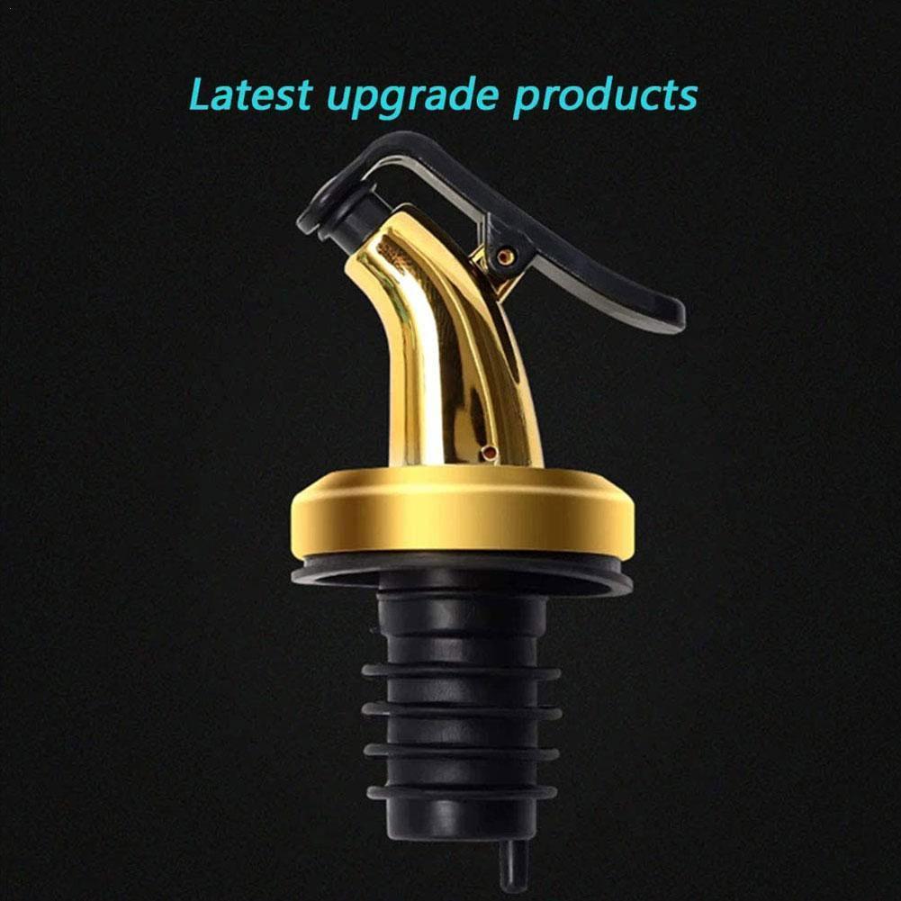 1Pcs Bottle Pourer Spout Stopper Dispenser Olive Oil Tools Wine Flow Flip Kitchen Liquor Sprayer Set W8L2