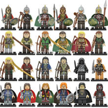Single Movie Figure Wraith Rider Rohan Bowman Mordor Orc Lord Of The Rings Boromir Archer Building Blocks Models Toys Legoing(China)