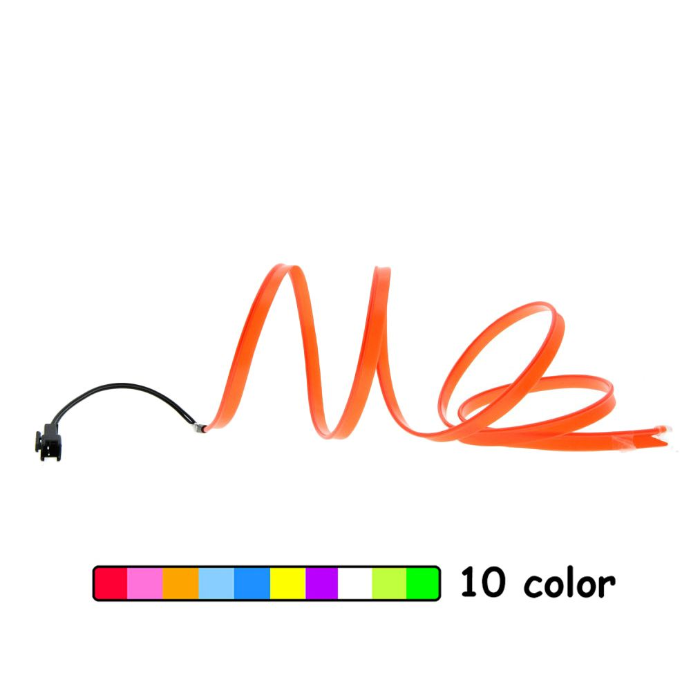 Car EL Wire Neon Lights Dance Festival Led Strip EL Lights With 8MM Sewing Edge 1/2/3/5m 9 Colors For Car Decoration