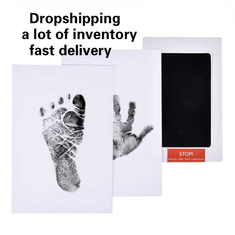 Baby Footprints Handprint Ink Pads Safe Non-toxic Ink Pads Kits for Baby Shower Inkless Mess Baby Pet Paw Prints Souvenir