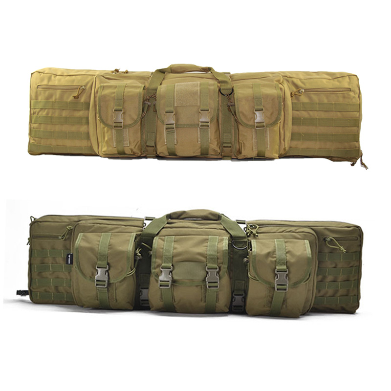 Molle Hunting Bags Tactical Double Rifles Carbine Case Shoulder Backpack Portable Airsoft Shooting Fishing Bag Gun Accessories