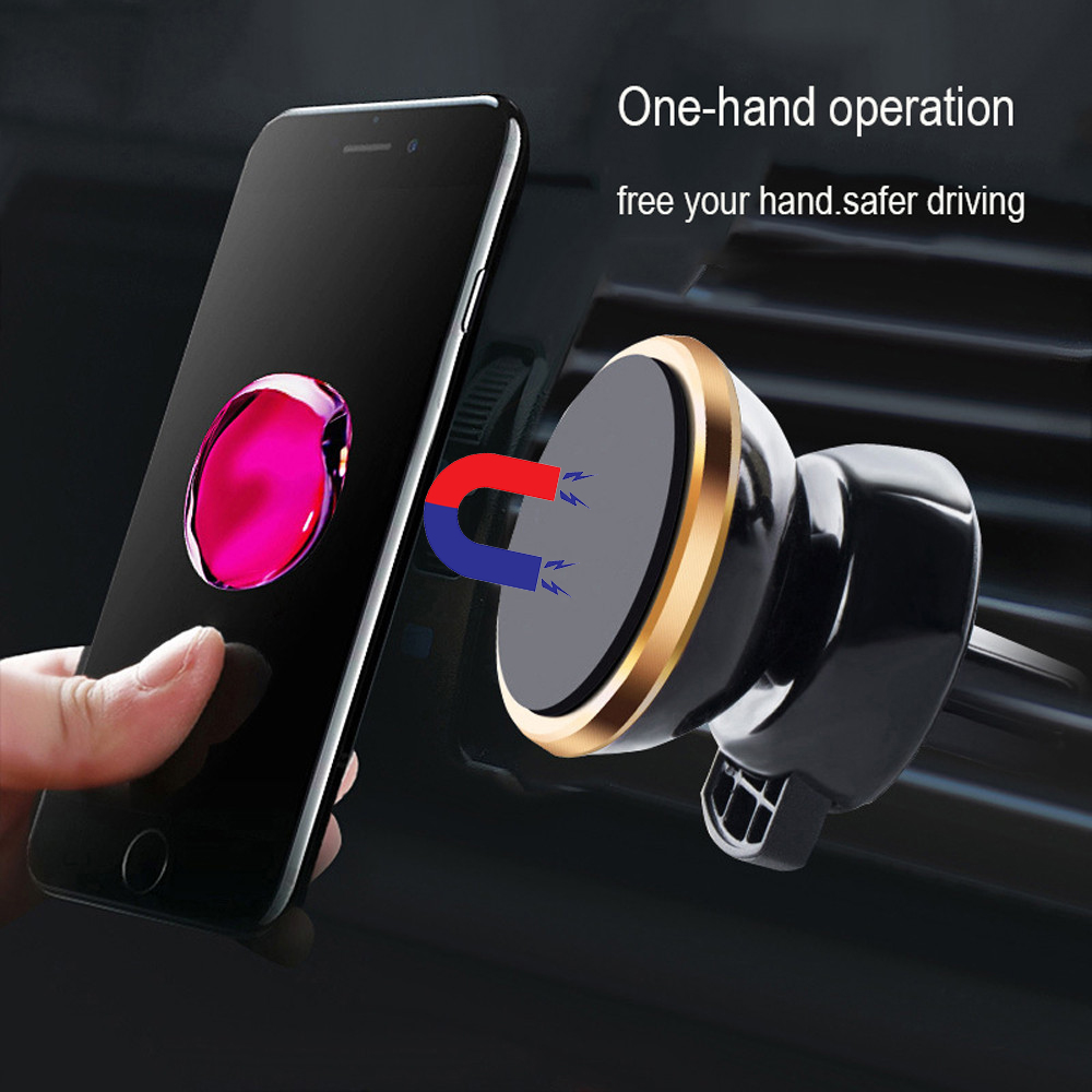 Magnetic Phone Holder For Phone In Car Air Vent Mount Universal Mobile Smartphone Stand Magnet Support Cell Holder With Box