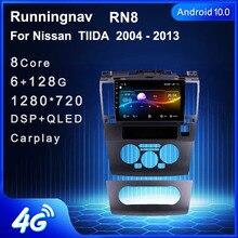 4G LTE Android 10.1 NISSAN TIIDA 2005 için 2006 2007   2010 2011 multimedya Stereo araç DVD oynatıcı oynatıcı navigasyon GPS radyo