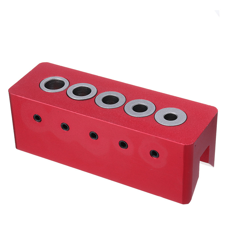 90 Degree Drill Straight Angle Guide Bit Doweling Jig Woodworking Tool Dowel Hole Jig 6/7/8/9/10mm Bit Wood Punch Locator Red
