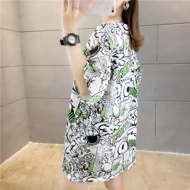 Фото женская футболка с коротким рукавом свободная и удобная в корейском цена