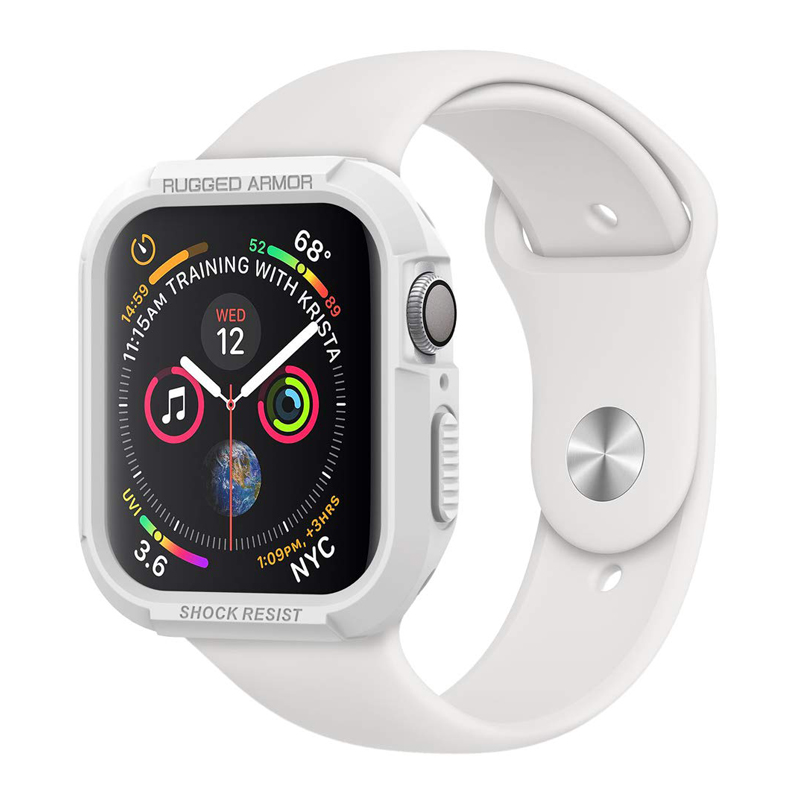 Watch Case For Apple Watch 44mm 40mm 42mm Rugged Armor Protective Cover For Iwatch 2 3 4 5 Soft Shockproof Protector Bumper
