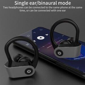 Image 5 - سماعات أذن لاسلكية للركض من Caletop TWS سماعات أذن رياضية مزودة بتقنية البلوتوث مع ميكروفون وسماعات أذن مزودة بخاصية ربط للأذن وإلغاء الضوضاء