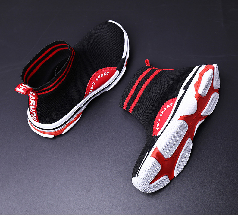 PINSEN 2019 Autumn Children Sneakers Girls Shoes Fashion Kids Sneakers Mesh Breathable Child Socks Shoes Boys Casual Shoes (15)