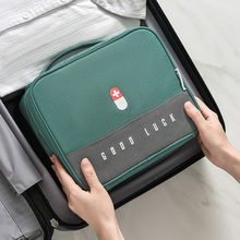 Thickened Layered Medicine Box Large-Capacity Home Portable Waterproof Fabric Medicine Cabinet Storage Box First Aid Kit