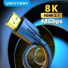 Kabel HDMI Vention 2.1 8K/60Hz 4K/120Hz 48 gb/s kabel cyfrowy dla PS4 TV, pudełko HDR10 + 1m 2m 3m rozdzielacz HDMI 8K HDMI 2.1