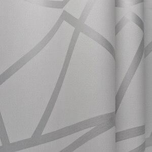 Image 5 - Серая Геометрическая настенная бумага для гостиной, спальни, серо белая узорная Современная дизайнерская настенная бумага в рулоне, домашний декор
