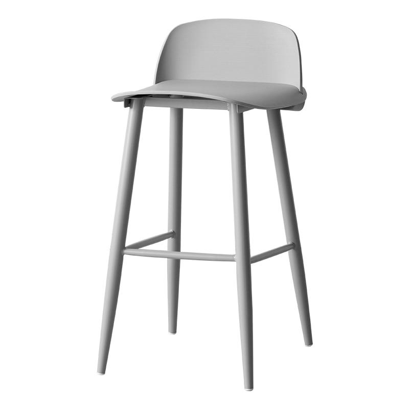 Fashion Bar Chair Nordic Denmark Modern Minimalist Bar High Bar Stool Front Desk Chair Creative Designer Chair