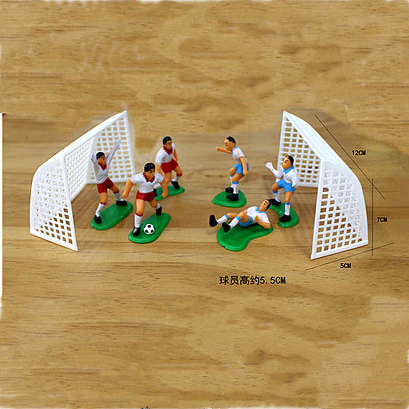 1 Set Soccer Game Cake Topper Birthday Kids Doll Toy Home Decor Football Baking Cupcake Party Supplies for Cake Decoration