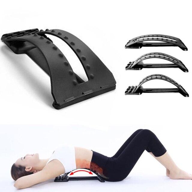 Back Massager Stretcher Fitness Lumbar Support Waist Spine Pain Relief