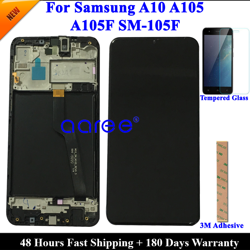 Super AMOMLED Original LCD  For Samsung A10 A105 LCD  For Samsung M10 M105F LCD Screen Touch Digitizer Assembly-in Mobile Phone LCD Screens from Cellphones & Telecommunications on