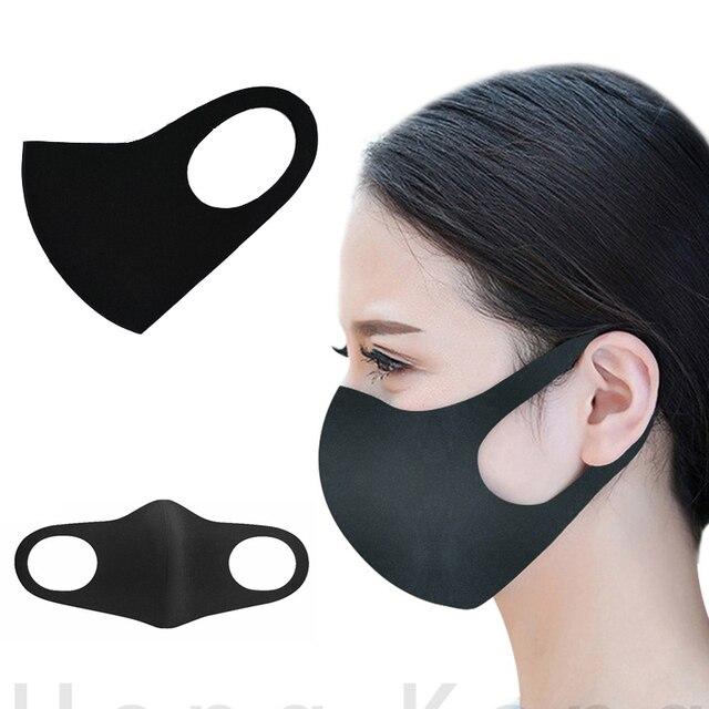 5PCS kpop mask  washable mask elastic mouth soft breathable face mask free size hot windproof 3