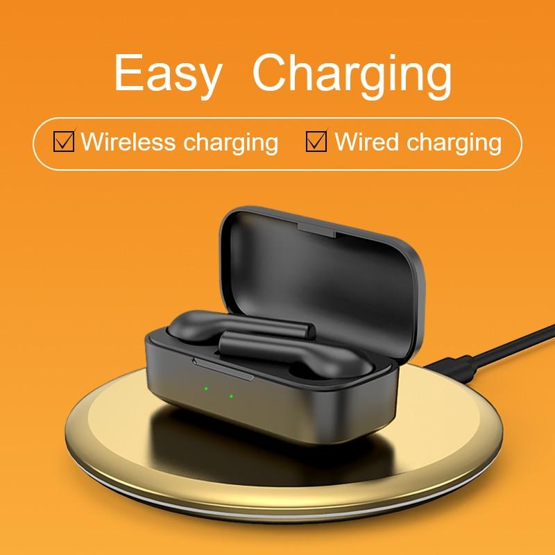 cheapest QCY T5Pro Wireless bluetooth headphones Balanced Armature app control earphones Wireless charging